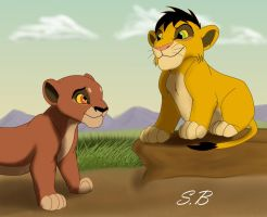 Ahadi and Uru by sbrigs