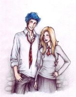Teddy and Victoire by Achen089 by HogwartsArt