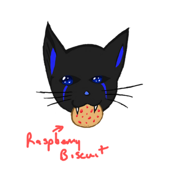 Neon Kitty w/Raspberry Biscuit by Swifty-TheVagabond