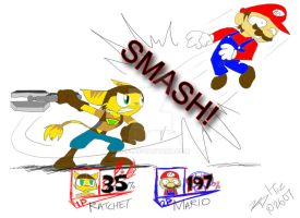 Ratchet in Smash Bros. Brawl by kd99