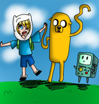 .:Fan_Art:. Adventure Time! by RimaChan13