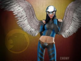 Earth 2 Hawkgirl by chowyspizz
