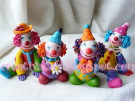 Fimo clown by mergirlArt