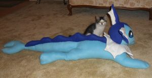 Large Vaporeon Plushie by PakajunaTufty