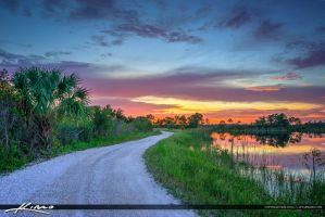 Martin-County-Florida-Dirt-Road-Sunset by CaptainKimo