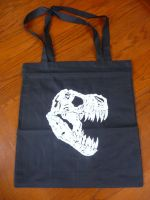 T-rex Skull Tote Bag by KING1384