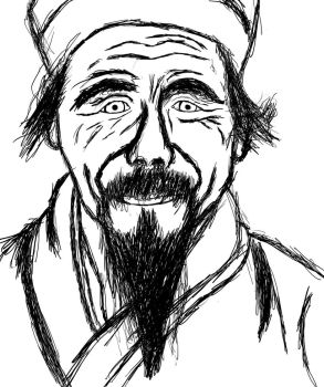A chinese old man by FeralMess