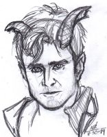 Sketch practice of Daniel Radcliffe by ConstantM0tion