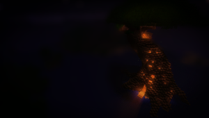 Minecraft Tree of Life - Night by Adrian-Drott