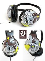 Terror Robots Headphones by Bobsmade