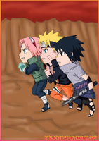 Team seven chibi version of a new chapter by byBlackRose