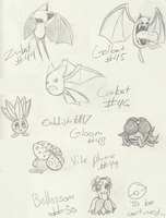 Pokemon Sketches7 :44-50: by sami86404
