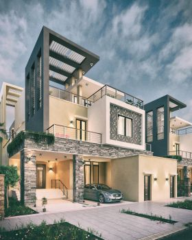 Private Villa  Facades Design - KSA - by M-Salman