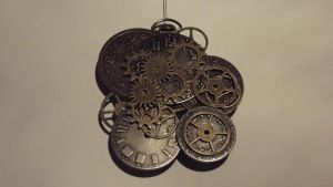 Clock Parts Amulet by 11rnolson