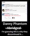 Abridgers tweet about Danny Phantom by CardGamePhantom