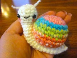 Wee Little Sherbert Snail Amigurumi Kits1 by Spudsstitches