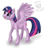 Daily Drawing #4: Twilight Sparkle the Alicorn by MaeraFey