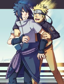 Narusasu - Hug by msloveless