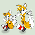 little Tails and older Tails by Sanddy273