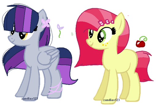 DerpyTwi and AppleSeed Adoptable.~ by zandiax123