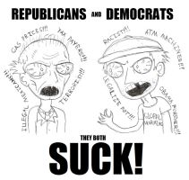 Republicans and Democrats - THEY BOTH SUCK! by yeagerspace