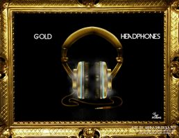 24k Gold Headphones by PFDesigns