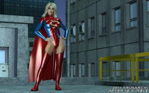 Supergirl via JaggyD by artguyjoe
