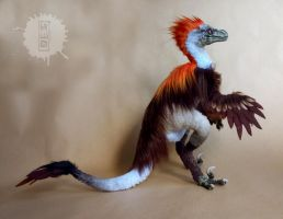 Raptor posable OOAK art doll by hikigane