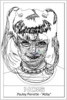 Pauley Perrette OUTLINE by LuigiLA