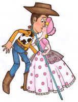 Bo Peep n Woody by Cat-The-Rawr