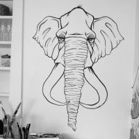 Elephant. Mural - Part four by icantreid