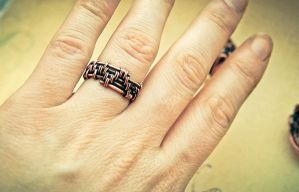 ring wirw wrapped from copper by honeypunk