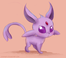 Chibi Espeon by StePandy
