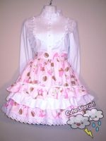 Ice cream lolita skirt by The-Cute-Storm