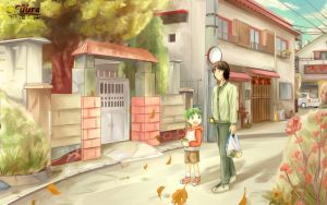Yotsuba and Daddy go Home by AFD42