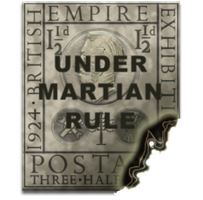 Steampunk Martian Stamp Icon by yereverluvinuncleber