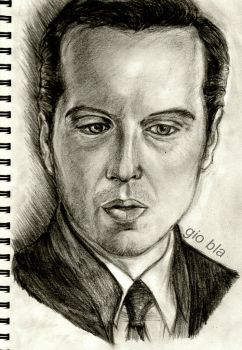 Jim Moriarty - charcoal portrait by GiobbyBla
