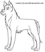 Wolf lineart- BEST ONE by serra20