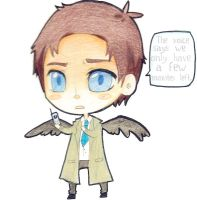 Supernatural fanart castiel by emi-ku