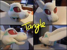 Tangle fursuit head WIP by RadCatBlakat