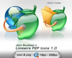 Limewire P2P Icons 1.0 by weboso