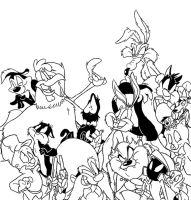 Looney tunes Lineart by Winter-Freak