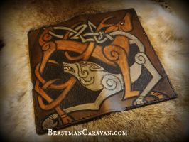 Stag and Wolf Wallet by The-Beast-Man