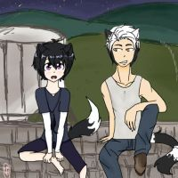 Stargazer: Humanized Barley and Ravenpaw (request) by runtyiscute1999