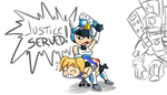 Mighty Spank Force! by Kyrie---Eleison
