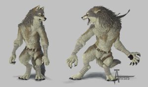 Werewolf_colored by Anisis