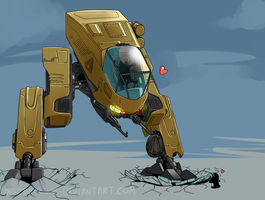 Starbound Mecha by Suweeka