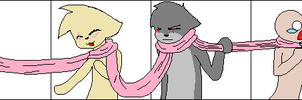 :Collab: Russia's scarf by Ask-Wolf-Russia