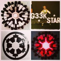 Imperial Daisy Glowing Star Wars Hair Flower Clip by GeekStarCostuming