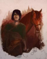 SP - Jamyn and his stupid horse by Lumaris